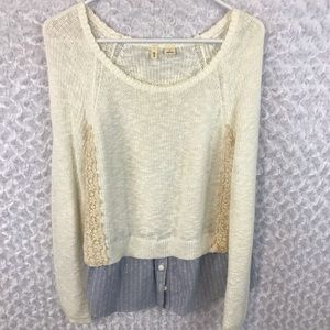 Anthropologie Moth Terrace Layered Look Sweater